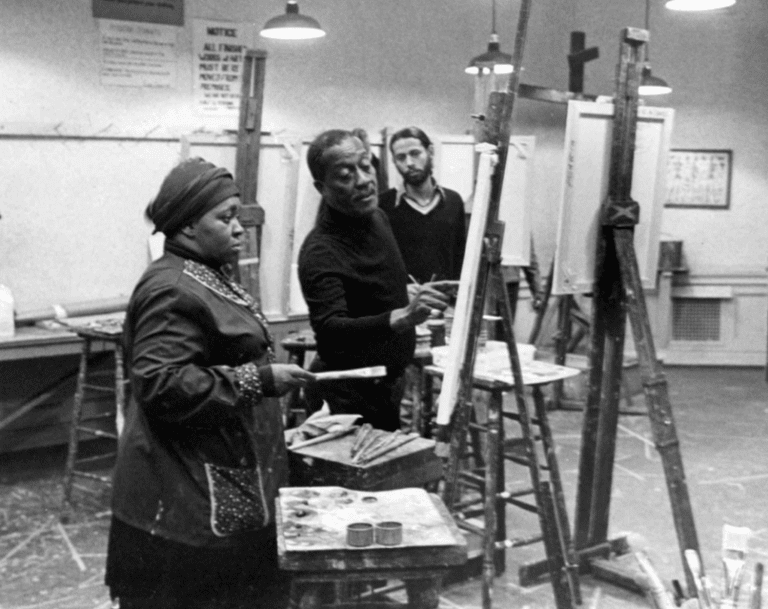 Norman Lewis teaching at the Art Students League, New York, 1978,