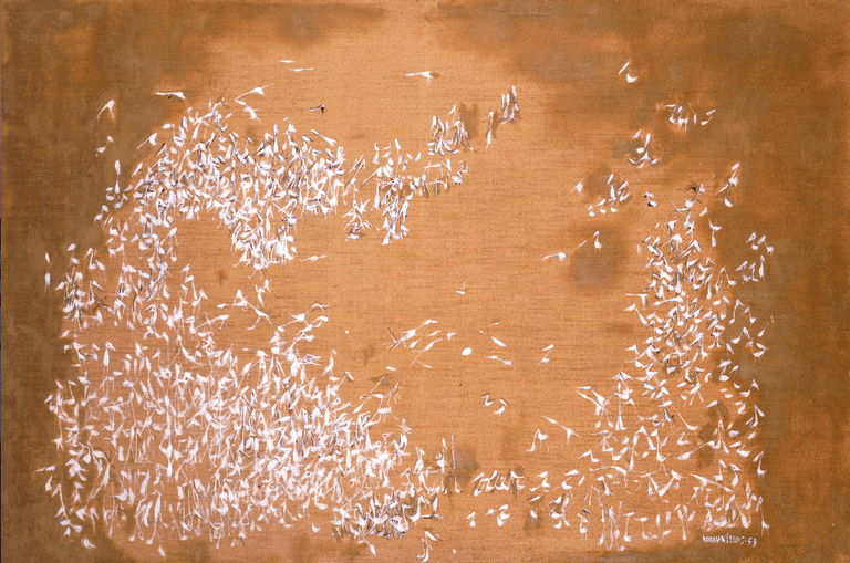 Migrating Birds, 1953 Oil on canvas, 40 x 60 in.