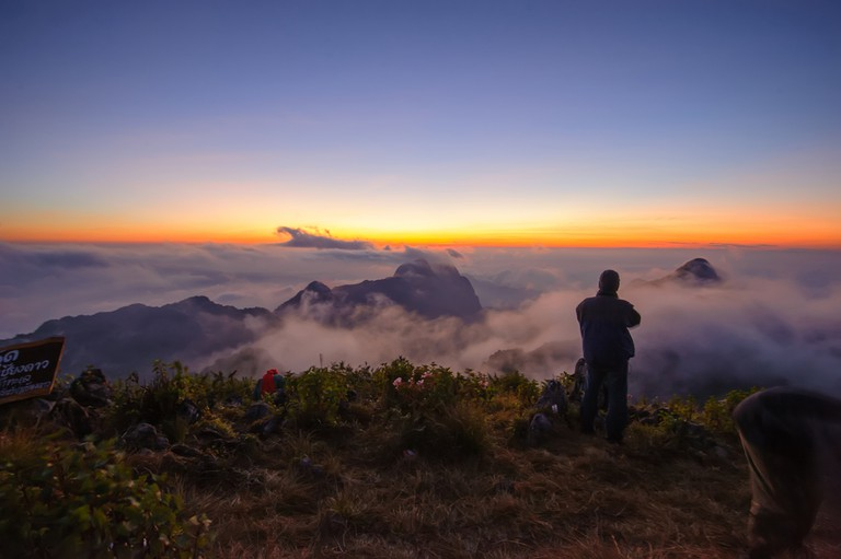 Sunset in the mountains (Doi Luang Chiang Dao , Chiang Mai ,Thai