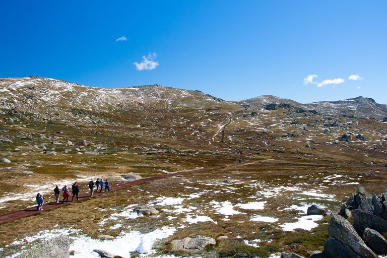 A spectacular view across the valley on the Kosciuszko