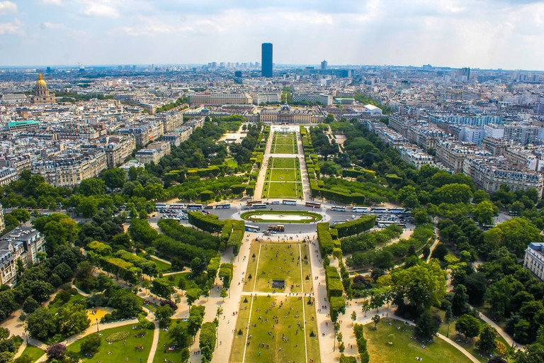 View of Champ de Mars from the Eiffel Tower, Paris | © Ong.thanaong/Shutterstock