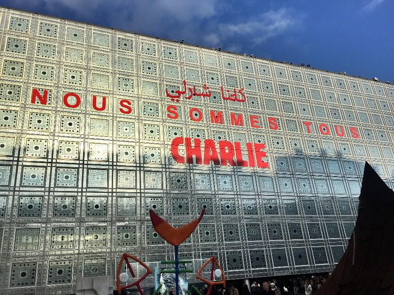 The Institut du Monde Arabe after the terrorist attacks in January 2015 │© Pierre LANNES