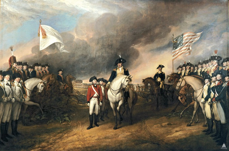 The Surrender of Lord Cornwallis by John Trumbull c.1826 │© USCapitol