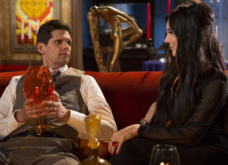 Trish's husband (Robert Seeley) takes the bait