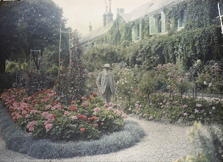 Claude Monet in front of his House at Giverny 1921