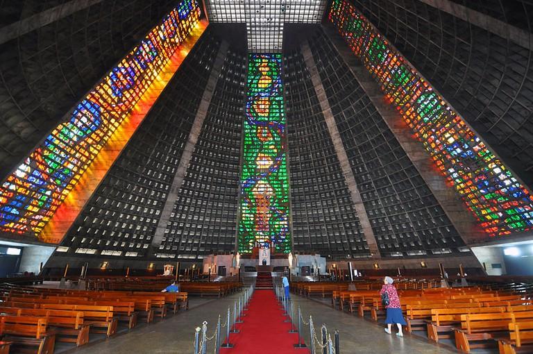 Rio de Janeiro Cathedral Sao Sebastiao |© chensiyuan/WikiCommons