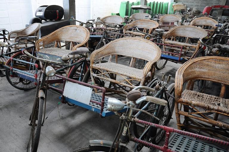 Rickshaws Jesada Technik Museum, Nakhon Chaisi, Thailand