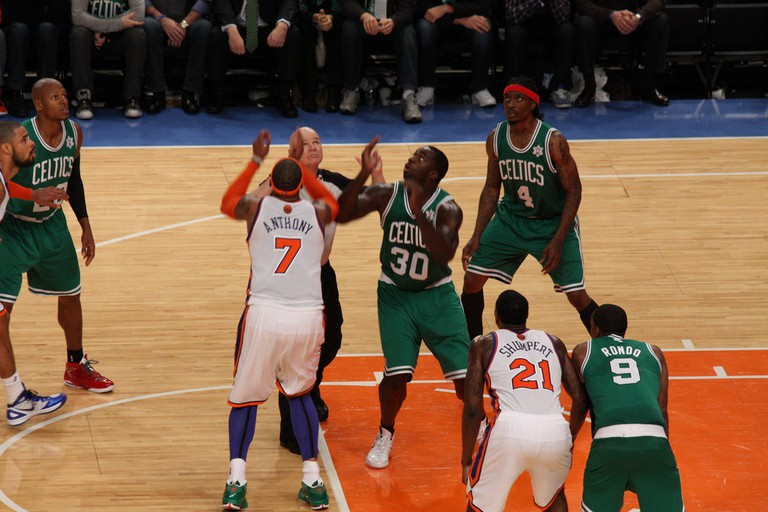 The New York Knicks and Boston Celtics played on Christmas Day in 2011. They meet again this Dec. 25 | © Flickr/Kowarski