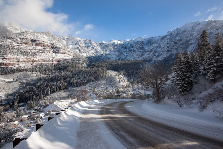 "Snow-Covered ""Million Dollar Highway"" (3) 