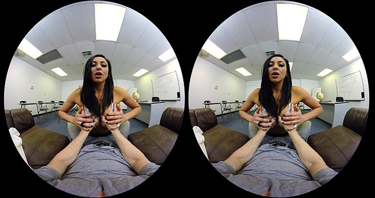 A VR porn scene. | Courtesy Naughty America