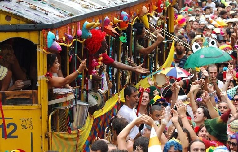 Street party (bloco) in Rio de Janeiro |© Núcleo Céu na Terra/WikiCommons