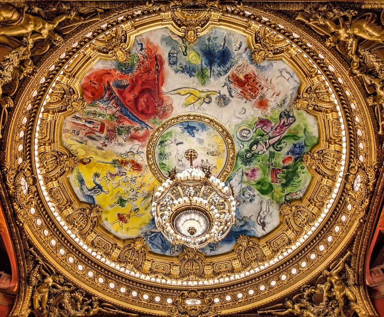Ceiling of the Palais Garnier, Paris, unveiled in 1964 │© Joe deSousa