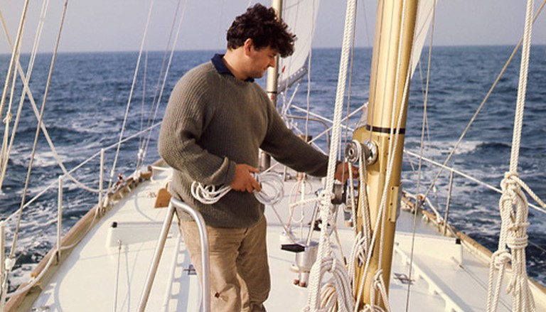 Sir Chay Blyth aboard British Steel during his around-the-world sail in 1970 | © Sir Chay Blyth
