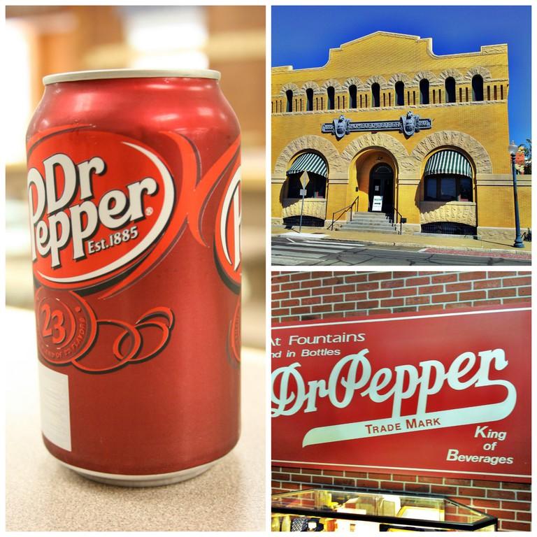 Dr Pepper Can © midnightcomm/Flickr, Dr Pepper Museum © BobbbyLight/Flickr, Dr Pepper Ad © BobbbyLight/Flickr