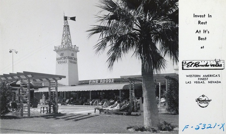 El Rancho Las Vegas - Frasher Foto postcard 1940s