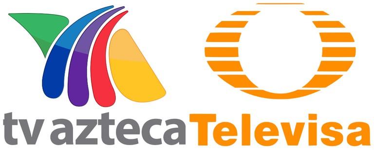 TV Azteca logo | © ADRIANMA2001/WikiCommons / Televisa logo | © WikiCommons
