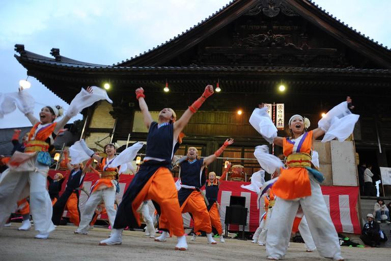 Performance at Hadaka Matsuri in Saidai-ji | © Mstyslav Chernov/WikiCommons