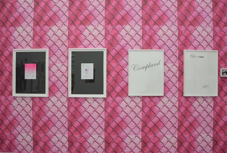 Gallery View of Sadie Barnette installation at Jenkins Johnson Gallery. Photo Credit | Lisa Morales