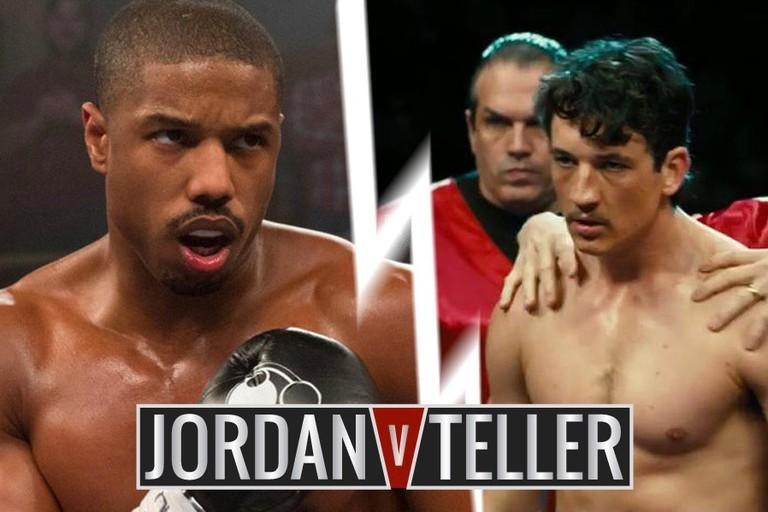 Michael B. Jordan in 'Creed' vs. Miles Teller in 'Bleed For This'