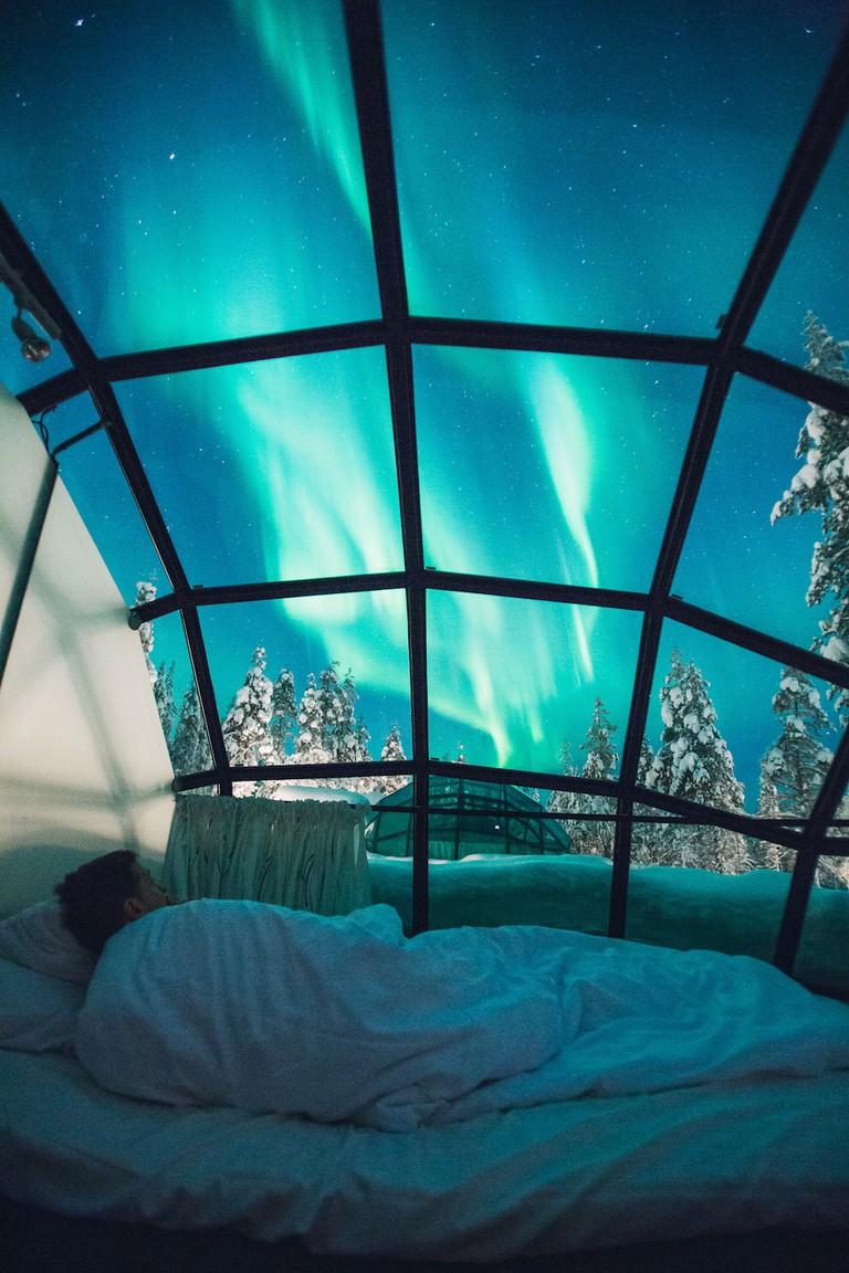 Kakslauttanen Glass Igloos © Valtteri Hirvonen