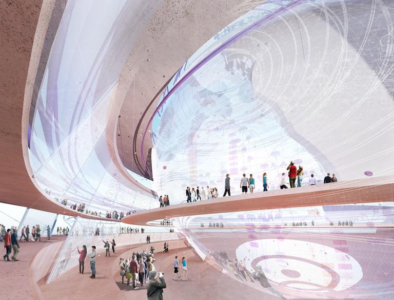 Le Globe de l'Expo universelle - Vue intérieure 1 │© Sensual City Studio