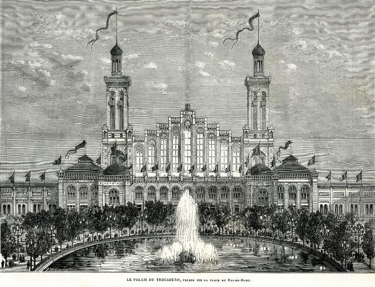 Le Palais de Trocadéro in 1878 │© BIE