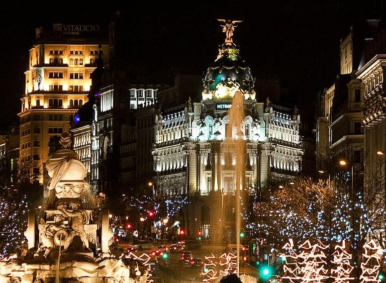 Madrid at Christmas   ©Guzmán Lozano / Wikimedia Commons