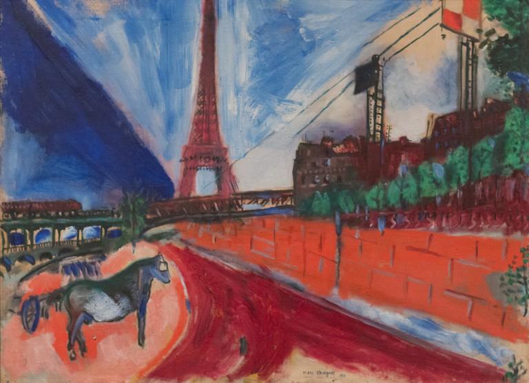Marc Chagall, Le Pont de Passy et la Tour Eiffel, 1911 │© Sharon Mollerus