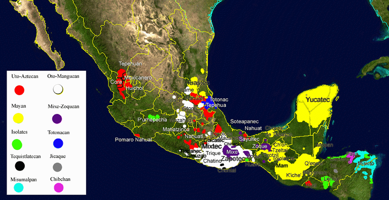 Map of indigenous Mexican languages | © WikiCommons/Flickr
