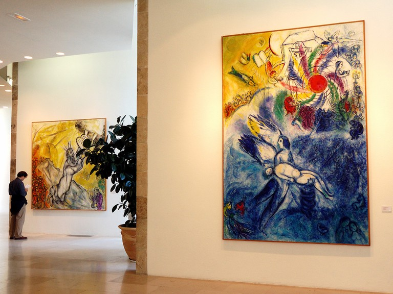 Musée National Marc Chagall, Nice, featuring painting from 1956 │© Rosino
