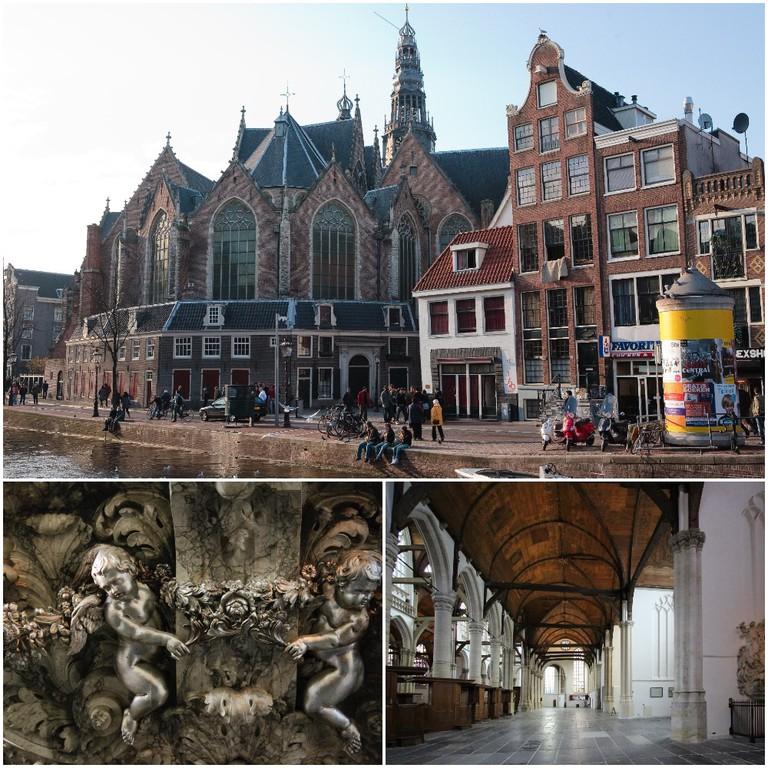 Oude Kerk (Old Church) | © Gary Craig/Flickr; De Oude Kerk-Amsterdam | © Kotomi_/Flickr; oude kerk, amsterdam (27) | © bertknot/Flickr