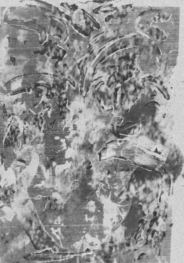 Iraq war, sonar image of the South China Sea , blurred misprint. 2001, 2012, 2016 © Anna Higgins