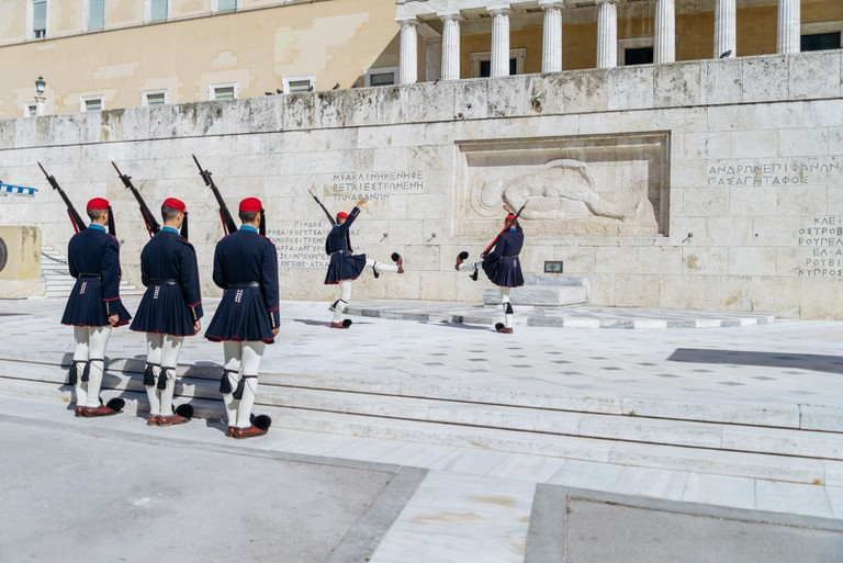 Change of the National Guard, Athens