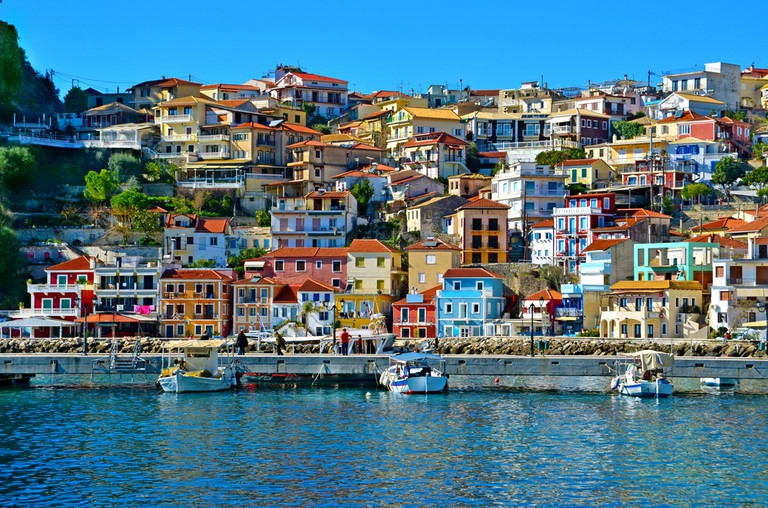 Parga in the winters season, Greece