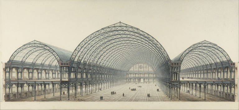 Sketch of the Palais de l'Industrie, 1855 │© BIE