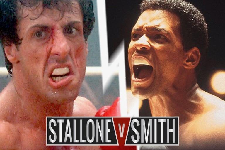 Sylvester Stallone in 'Rocky' series vs. Will Smith in 'Ali'