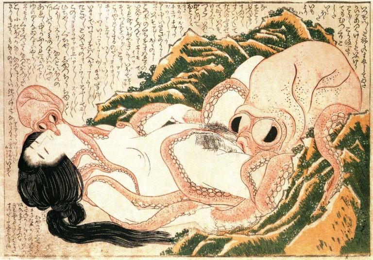 One of the first examples of hentai was Dream of the Fisherman's Wife by Katsushika Hokusai in 1814 | © Katsushika Hokusai/WikiCommons