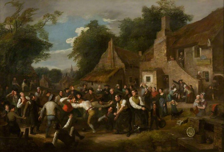 The Village Ba' Game By Alexander Carse 1818