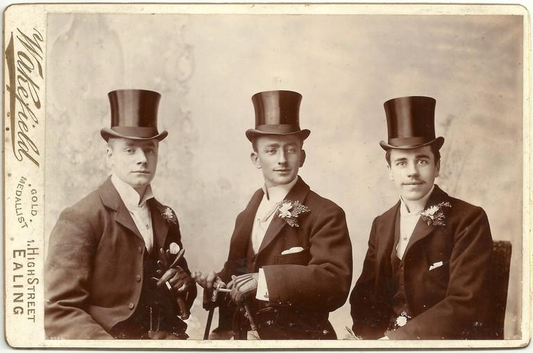 Victorian men wearing top hats