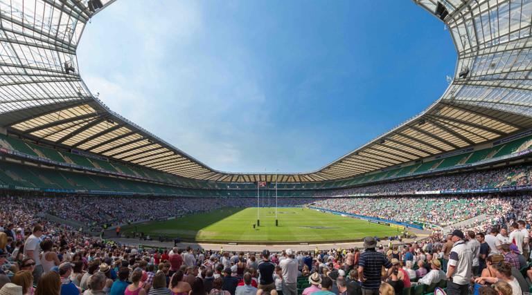 Inside Twickenham Stadium