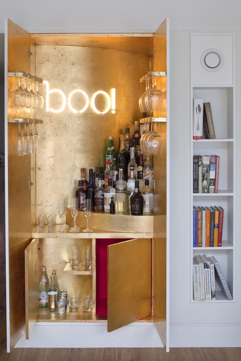 Gold-leaf bespoke bar