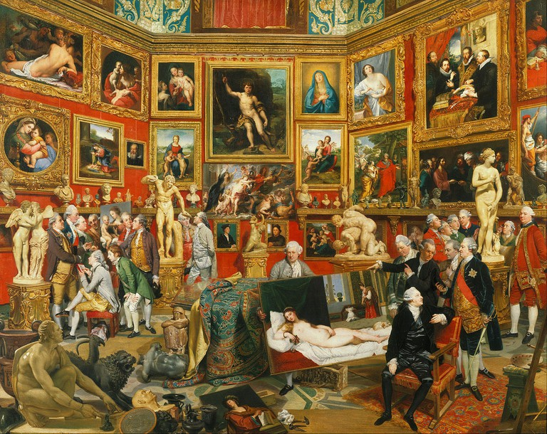 Johan Zoffany, 'Tribuna of the Uffizi' | Courtesy of Google Art Project