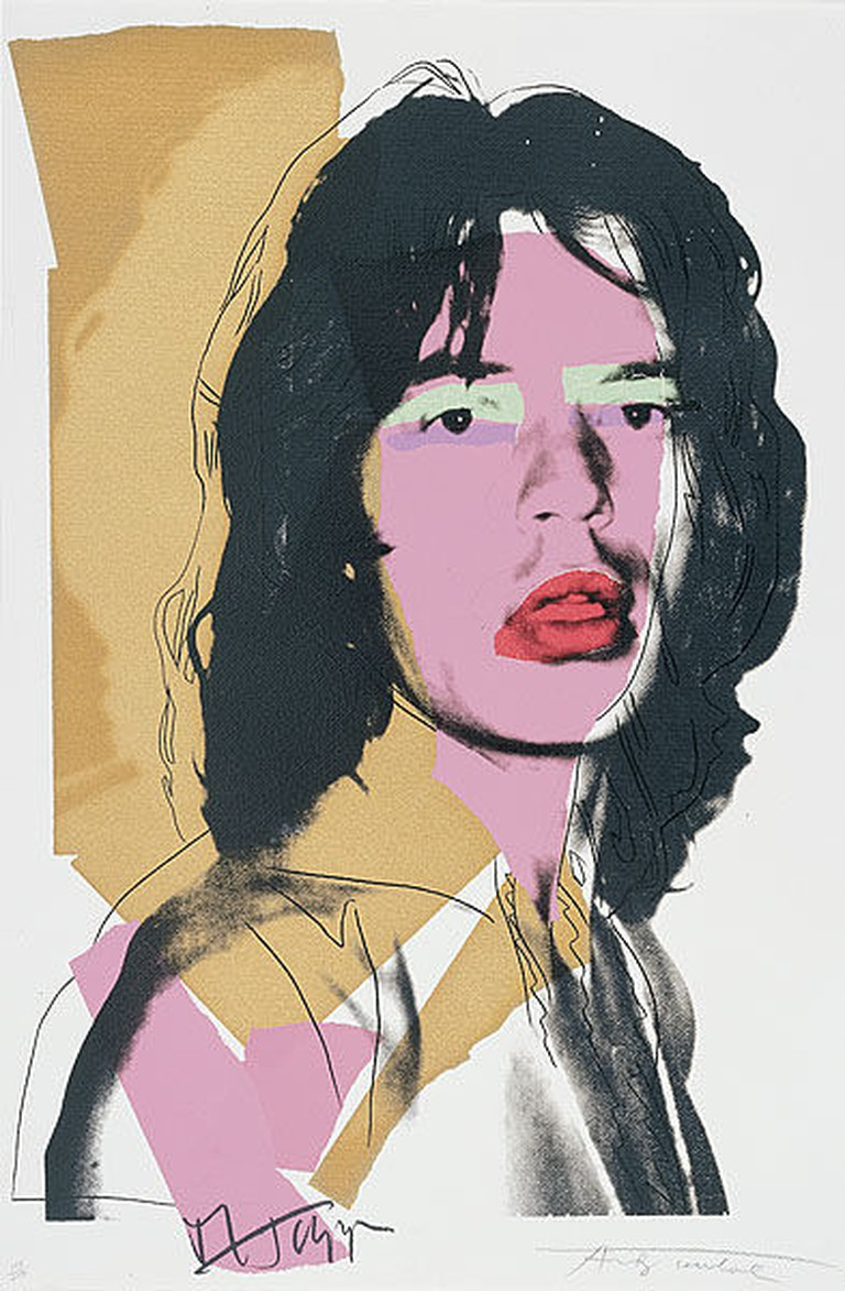 'Mick Jagger' silk screen print, signed in pen by Andy Warhol. Sold as limited editions to private collectors. Courtesy of Ian Burt/Flickr