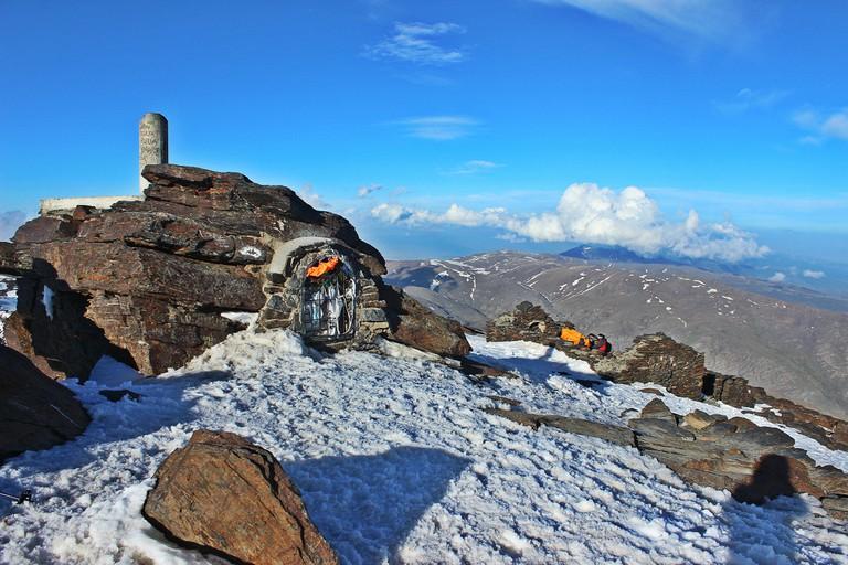 The peak of Mount Mulhacen in the Sierra Nevada - the Iberian peninsula's highest peak; Jesus Dehesa flickr
