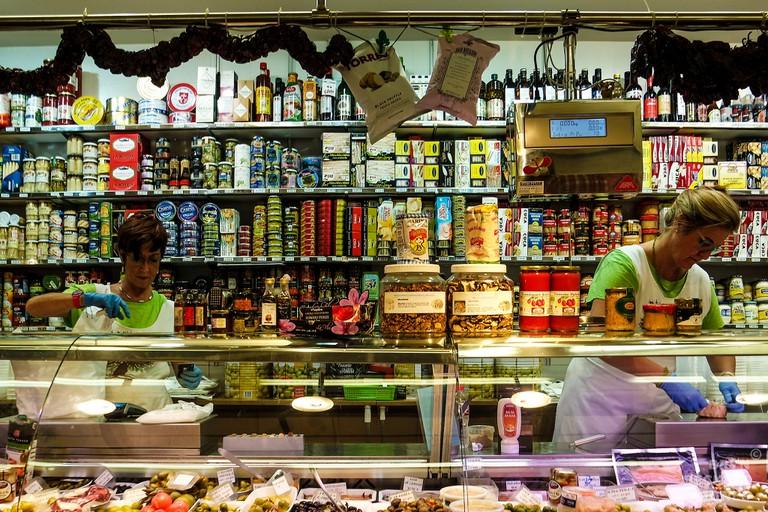 Inside the market © Bryn Jones