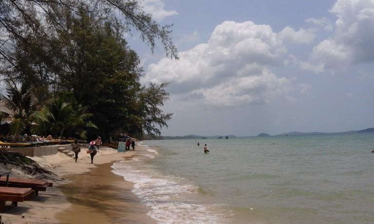 The beach at Otres, Sihanoukville