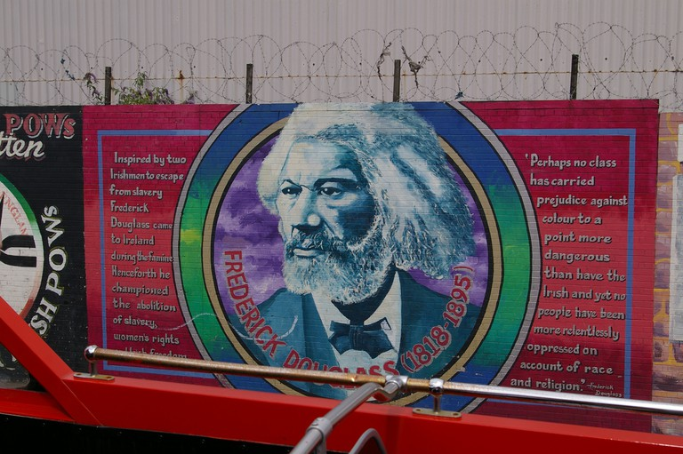 Tribute to Frederick Douglas on the 'Solidarity Wall'