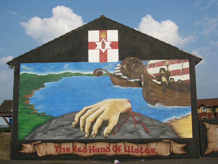 Red Hand of Ulster Mural