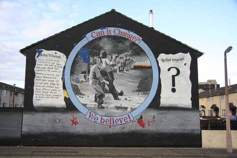 'Can it Change?' Unionist Mural