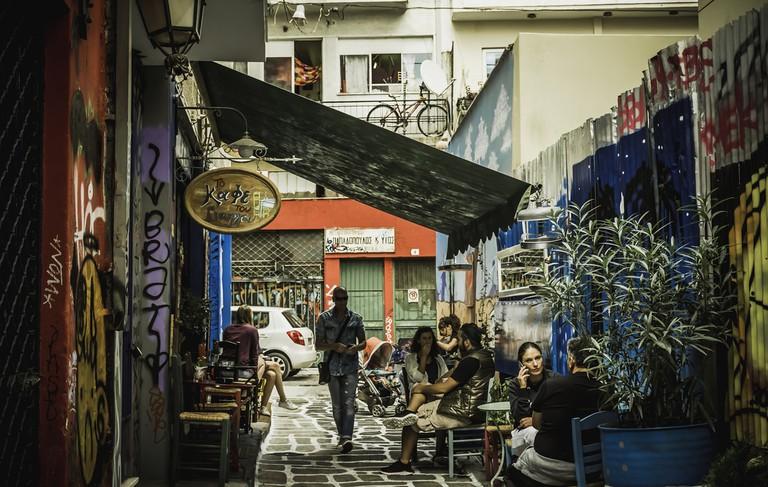 Street of Psirri in Athens